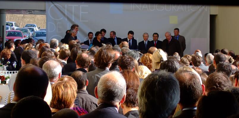 Inauguration de la Cité de la Cosmétique